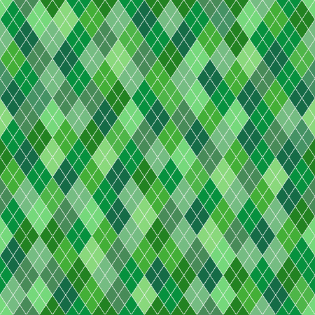 Seamless geometric pattern with green various shades random rhombuses