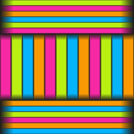 Seamless pattern of longitudinal and transverse multicolored stripes Иллюстрация
