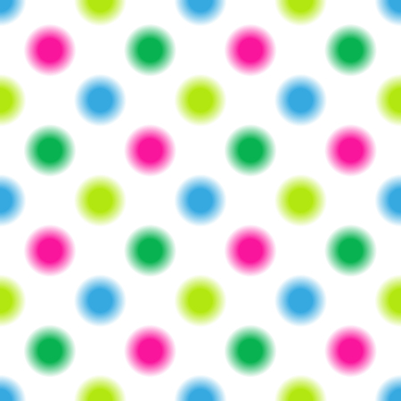 Seamless pattern in multi-colored polka dots on a transparent background, Vector, rps 10