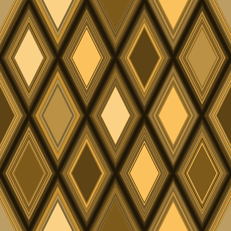 Seamless geometric pattern wiith golden and bronze rhombuses Foto de archivo - 120939315