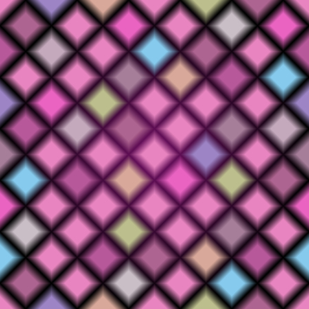 Seamless pattern with blurred translucent pastel colored rhombuses. Vector image. Eps 10