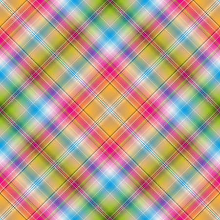 Seamless rainbow striped diagonal pattern, vector, eps 10  イラスト・ベクター素材