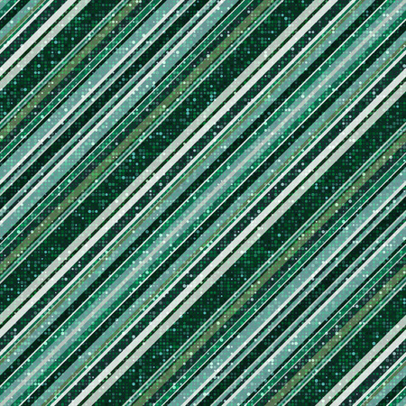Glitter green seamless pattern with diagonal stripes and dots. Vector image. Eps 10 Foto de archivo - 123124300