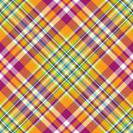 Seamless rainbow striped diagonal pattern, vector, eps 10
