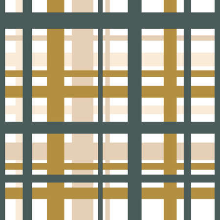 Vector seamless graphical pattern. Horizontal and vertical transverse stripes in trend colors. Ideal for plaids, fabrics, textiles, clothes, tablecloths, packaging paper Иллюстрация