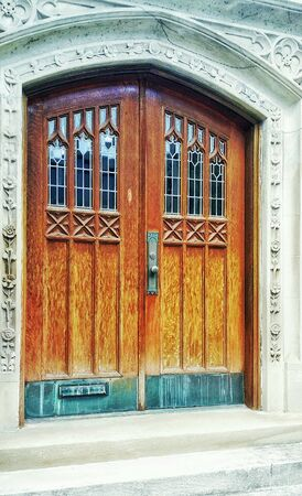 bright: Bright wooden church  doors
