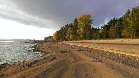 kama: Coast of Kama in Ural, Demidkovo, Russia Stock Photo