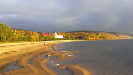 Coast Kama, The Nature Of The Urals in Demidkovo,  Russia Stock Photo