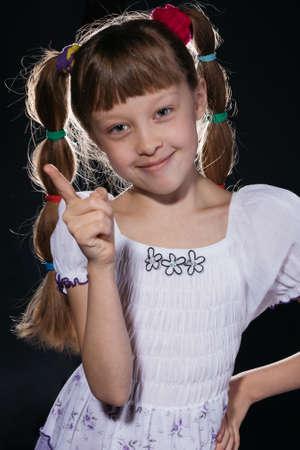 Little girl in bright dress