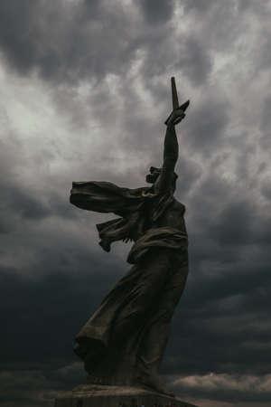 Russia, the city of Volgograd Stalingrad, Mamaev Kurgan, the Motherland Calls statue