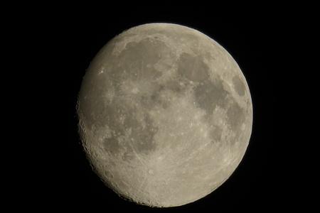 moon in the black sky