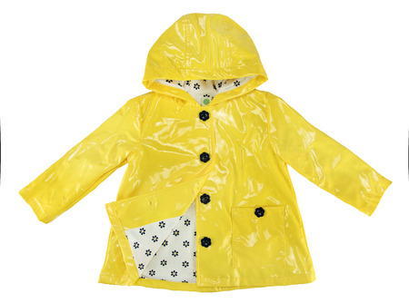 Veste de pluie élégance jaune pour fille