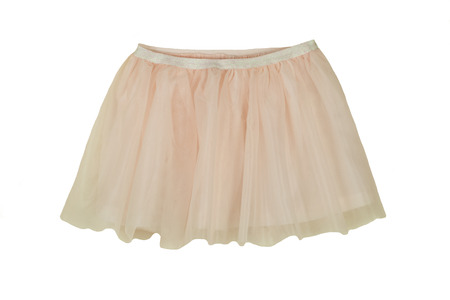 Pink summer skirt isolated on white background. Fashion for children.