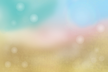 Abstract blurred summer pastel colored landscape with sky. Nature backdrop.