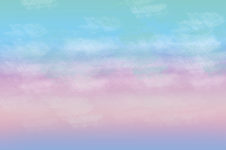 Beautiful colorful abstract cloudy pastel colored soft background. Gradient from purple to blue. Space for text.
