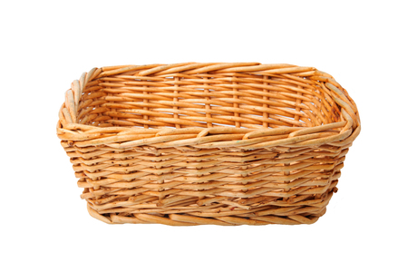Empty basket isolated on white background. For your food and product display montage. Stock fotó