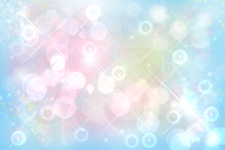 Abstract vivid summer bokeh in soft color style background with free space for text. 写真素材