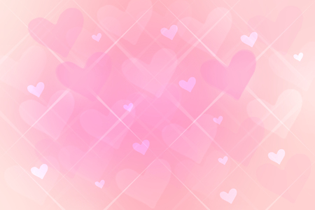 Happy Valentines or wedding day background. Abstract love romantic holiday pink background with pink hearts. Template with space fro your design. Beautiful texture.