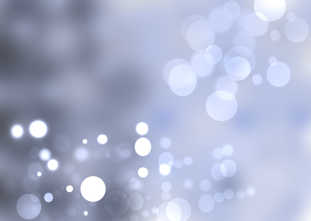 Blue bright abstract Bokeh with colorful circles  Template for