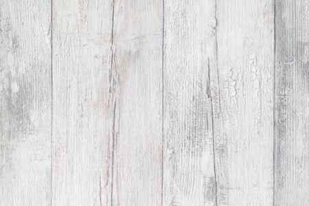 Grijze witte houten textuur. Close-up van lichtgrijze rustieke houten immitatieachtergrond. Mooie achtergrond met kunstmatige houtnerf. Macrofoto.