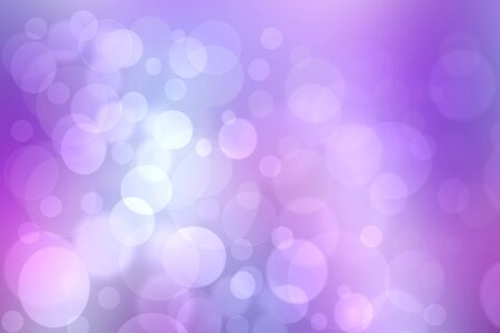 Abstract gradient purple pink background texture with blurred bokeh circles and lights. Space for design. Beautiful backdrop.