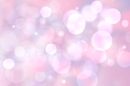 Abstract blurred vivid spring summer light delicate pink pastel bokeh background texture with bright soft color circles. Space for your text. Beautiful backdrop illustration. Imagens