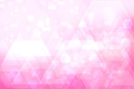 Abstract business and new technology backdrop. Abstract colorful pink modern futuristic technology and business background texture with mixed geometrical figures. Beautiful business and science presentation backdrop.