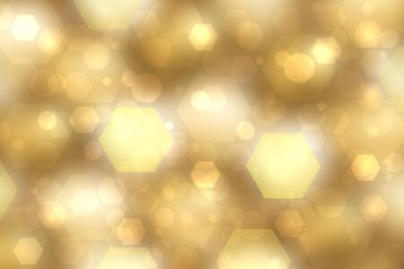 Abstract gradient yellow gold modern futuristic technology and business background texture with geometric polygons. Medical structure, artificial intelligence and science presentation backdrop.