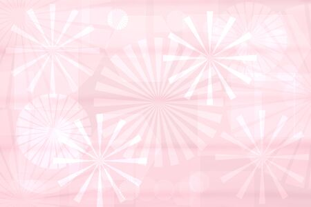 Abstract new technology backdrop. Abstract elegant light pink modern futuristic fractal background texture with mixed geometrical figures. Beautiful business or science presentation backdrop. 스톡 콘텐츠