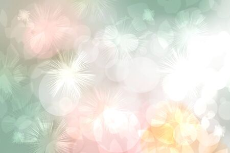Happy Valentines or wedding day. Abstract delicate love romantic holiday pastel pink background with white bokeh circles and stars. Template for cards with space for your design. Beautiful texture.