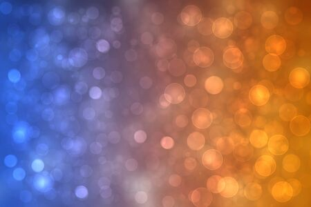 A festive abstract golden pink blue gradient background texture with glitter defocused sparkle bokeh circles. Card concept for Happy New Year, party invitation, valentine or other holidays.