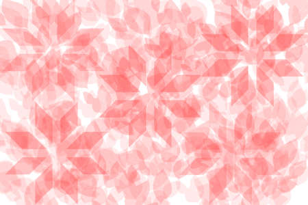 Abstract seamless pink red various leaves and blossoms pattern on white background. Texture for cover design, baby apparel, poster, card and party paper.