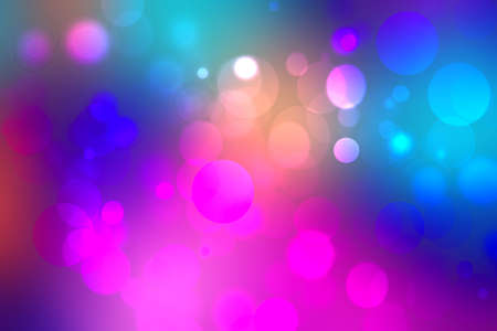Abstract dark blue gradient pink purple background texture with glitter defocused sparkle bokeh circles and glowing circular lights. Beautiful backdrop with bokeh light effect.