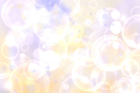 Abstract blurred fresh vivid spring summer light delicate pastel yellow pink orange bokeh background texture with bright circular soft color lights. Beautiful backdrop illustration. 免版税图像