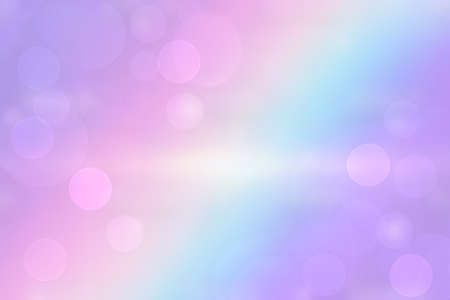 Abstract fresh vivid colorful gradient blue pink fantasy rainbow background texture with smooth rays and defocused bokeh lights. Beautiful colorful pastel texture. 免版税图像