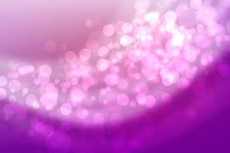 Abstract gradient pink purple background texture with blurred bokeh circles and white lights. Space for design. Beautiful backdrop.