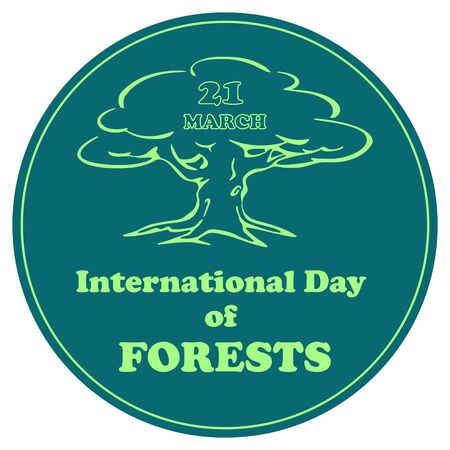 International Day of Forests. 21 march. Vector