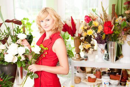 florist: Young gardener