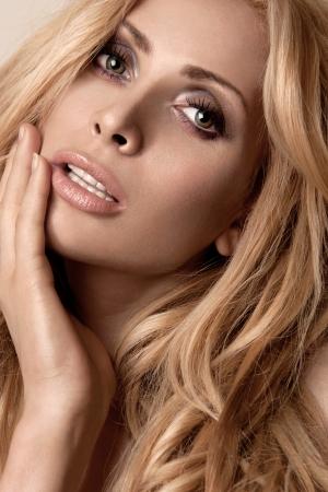 portrait of a young beautiful blonde women