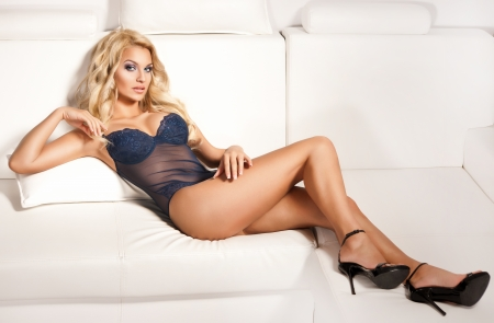 Sexy woman wearing sexy lingerie  Stock Photo
