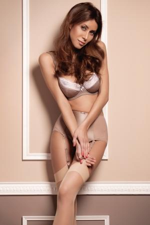 Sexy girl on a stylish background Stock Photo