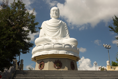 White Buddha Statue at Long Son Pagoda in Nha Trang, Vietnam