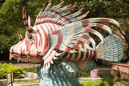 statue of butterfly fish in the Park near the aquapark Vietnam