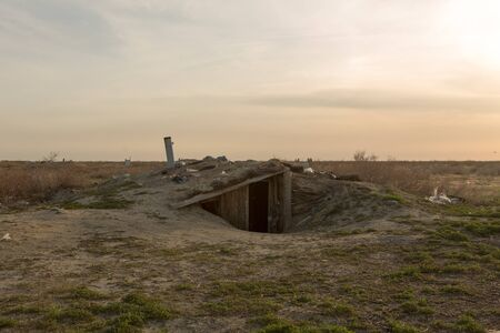 Old house in the ground