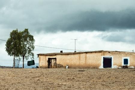 Typical roadside settlement near Mrirt, Khenifra province, Morocco