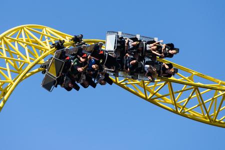 Linnanmaki Amusement Park, Ukko roller coaster Stok Fotoğraf - 89894053
