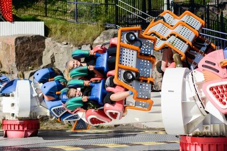 vertigo: Linnanmaki Amusement Park, Kieppi Booster ride Editorial