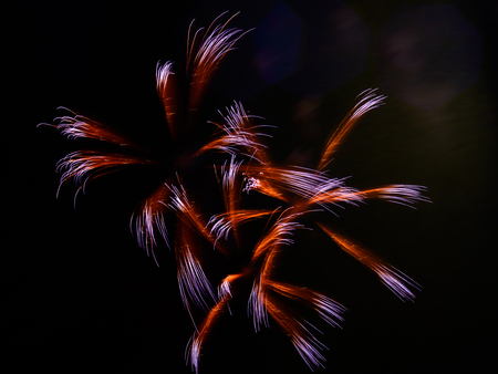 Burst of red and violet fireworks party, abstract, teture, holiday background Stock Photo