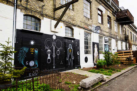 COPENHAGEN, DENMARK - MAY 01, 2018: Freetown Christiania, anarchist commune and partially autonomous intentional community, declared 1971