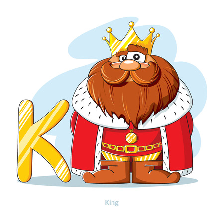 Cartoons alphabet letter n with funny nessie royalty free cliparts cartoons alphabet letter k with funny king vector thecheapjerseys Images